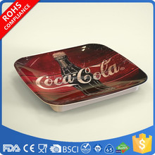 Non-slip melamine square cash tray money tray coin tray with custom logo and print OEM manufacturer