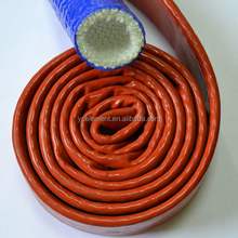 fiberglass silicone sleeve flame retardart hose thermal insulation tubing
