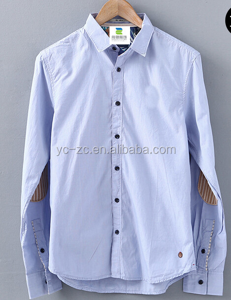 Mens made to measure shirts gents fashion shirts elbow patch shirt