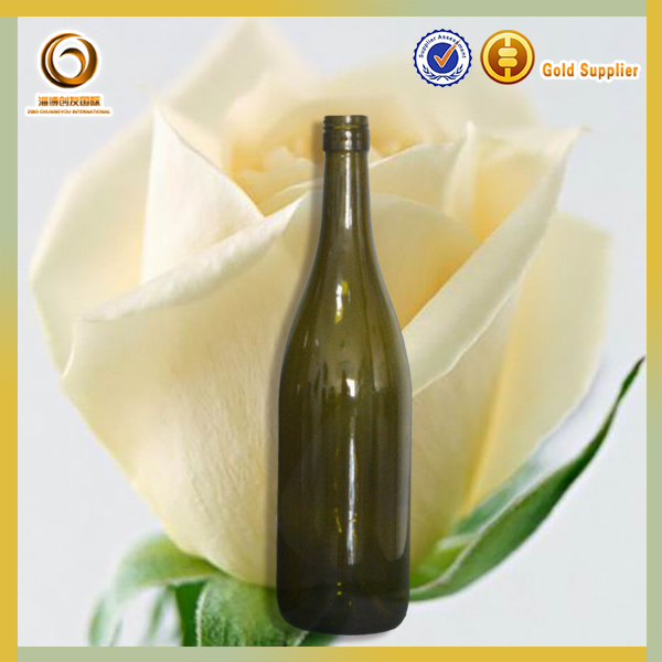 Colored glass wine bottles for sale/cosmetic package