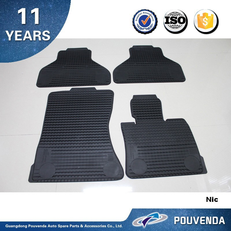 Rubber floor mat for BMW X5 E70 2007+ Full set Car Mats Auto accessories from Pouvenda