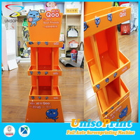folding corrugated plastic pop up display/fruit and vegetable display stand/retail floor display stand