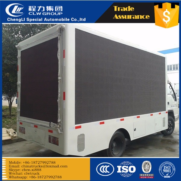 CLW foton forland 3800mm wheelbase cago van Programmable LED Display Outdoor Mobile Truck
