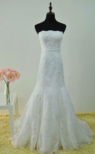 Top quality factory price wholesale applique sequin beaded fancy bride wedding dress