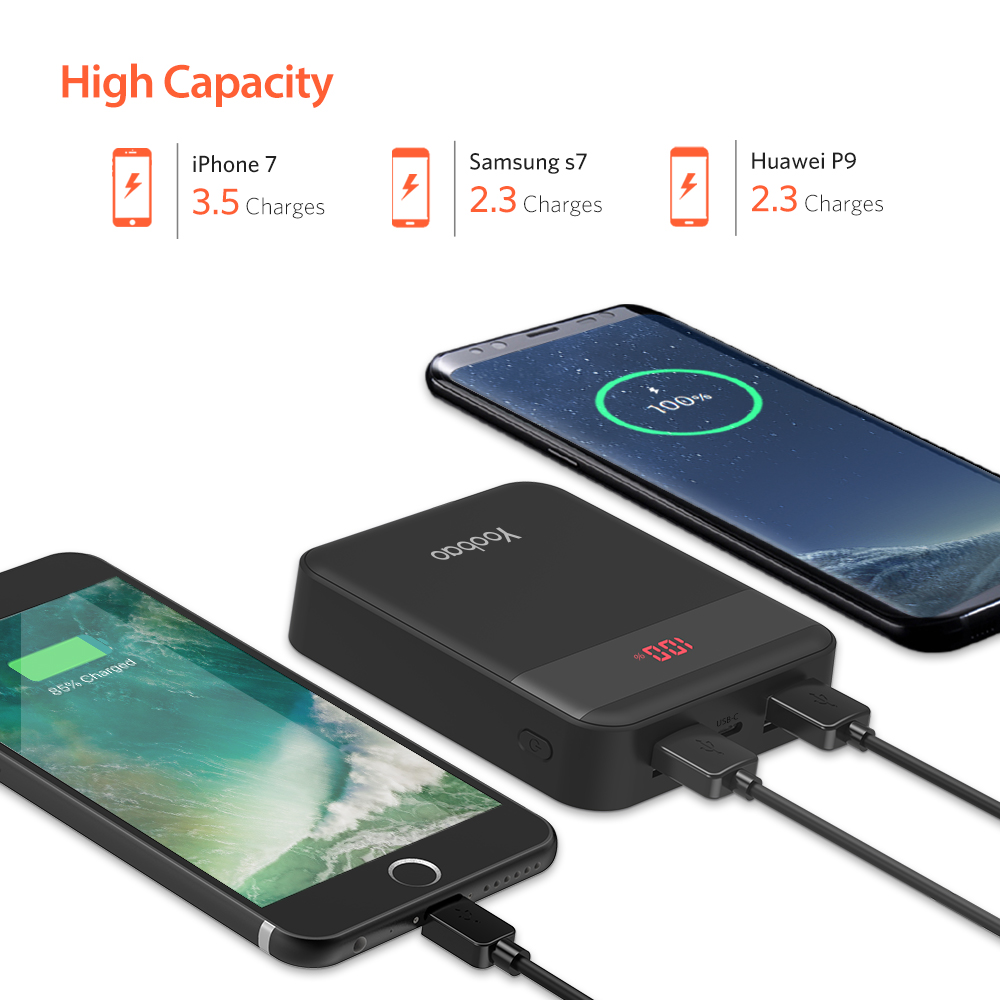 Yoobao M4Q 10000mAh Powerbank Quick Charge 3.0 Power Bank External Battery Fast Charge Portable Charger
