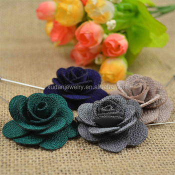 Camellia Flower Pins / Handmade Flower Brooch Pin Lapel Wedding Party Accessory
