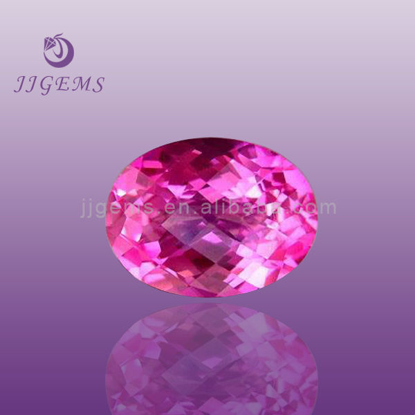 Hot sale natural pink ruby gemstone
