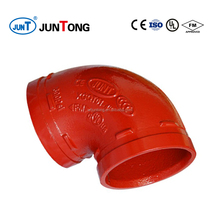 FM UL approved ductile iron grooved couplings and pipe fittings for fire fighting