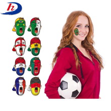 World Cup Argentina Brazil India Country Fan Flag Mask Temporary Face Tattoo