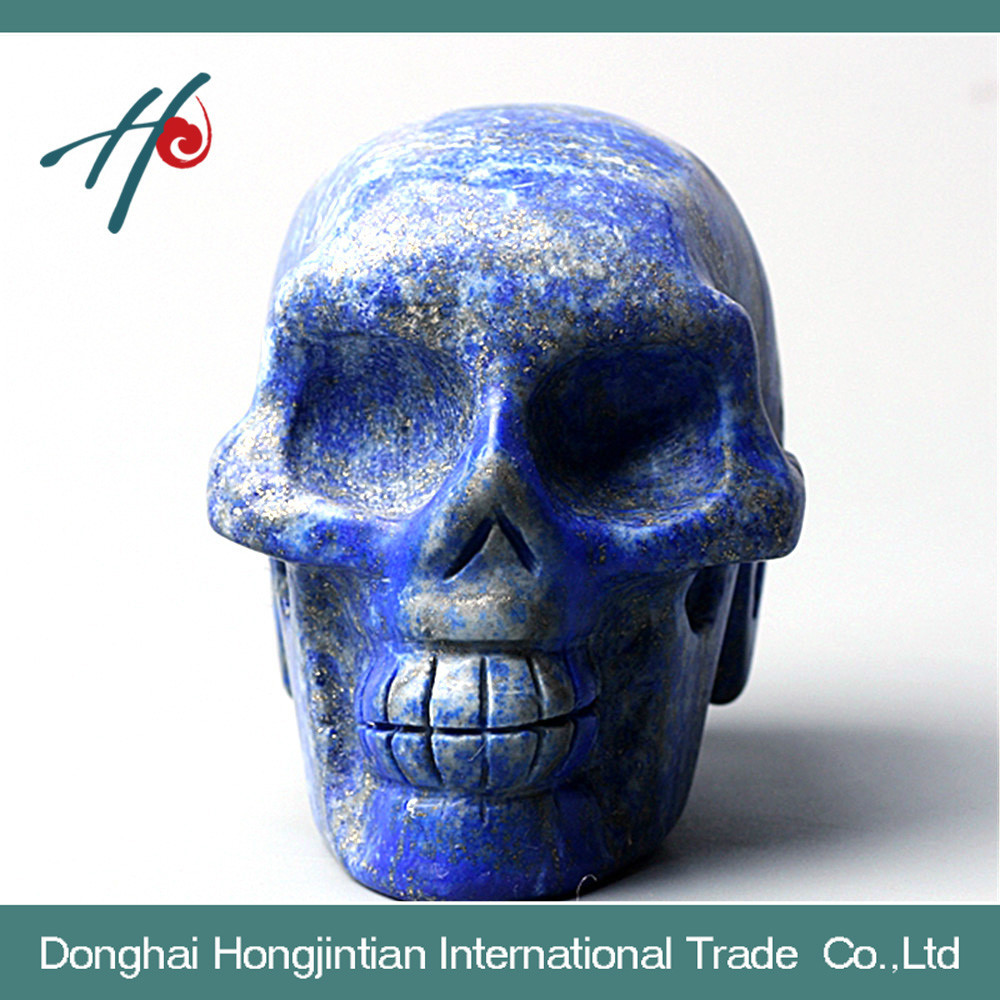 natural lapis skull head skull carving