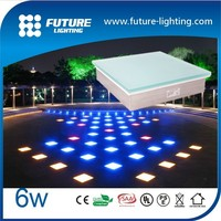 LED Brick Waterproof automatic color changing outdoor DMX 6W LED paver light