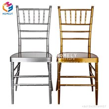 Whosale buy cheap used hotel banquet white silver gold metal iron steel aluminum chiavari chair sillas tiffany chair for wedding