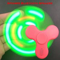 Led flash light hand spinner wireless bluetooth speaker