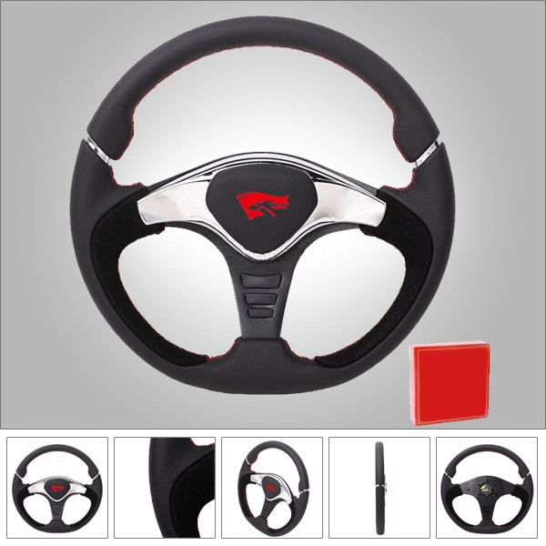 Alibaba China Leather Black Tuning Car Steering Wheel GTR2 for Game Car/Racing Car Steering Wheel (RC-5149)