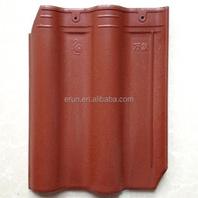 China high quality colored glazed clay roof tile price