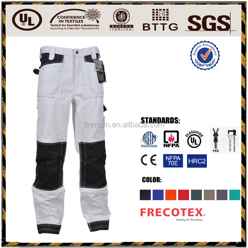 Industry workwear pants trousers Inherent safety aramid firefighter suit with EN469 standard
