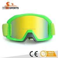 Fluo green motocross eyewear off-road used anti scratch mx bike motor goggles