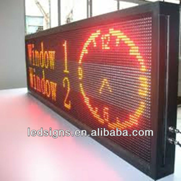 Hidly led supermarket LED clock display/led Clock screen/led outdoor signboard