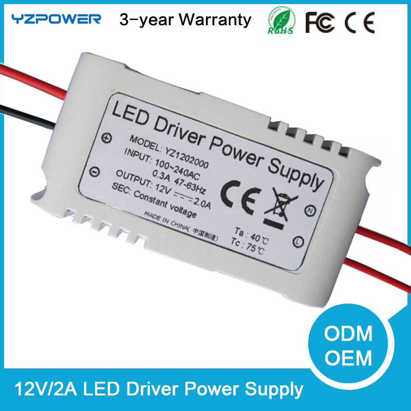 AC 12V 2A LED Light Bulb Driver Transformer Power Supply Adapter Air Cooling