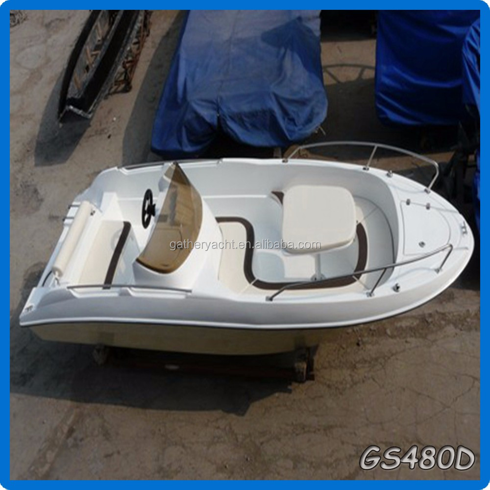 Gather china 2016 hot sale 4.8m fiberglass fishing boat for sale