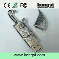 Novelty Usb Sticks Metal Knife Pen