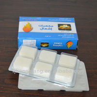 White firelighter hexamine solid fuel tablets