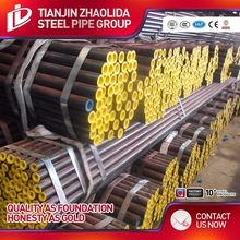 galvanized or black painting high quality hot rolled seamless steel pipe for gas and oil mill