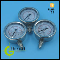 Oil filled all stainless steel pressure gauge