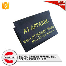 Good Quality Fashion Private Silk Size Standard Woven Labels,Care Label for Clothing
