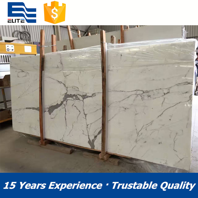 Popular white marble statuario slab and tiles