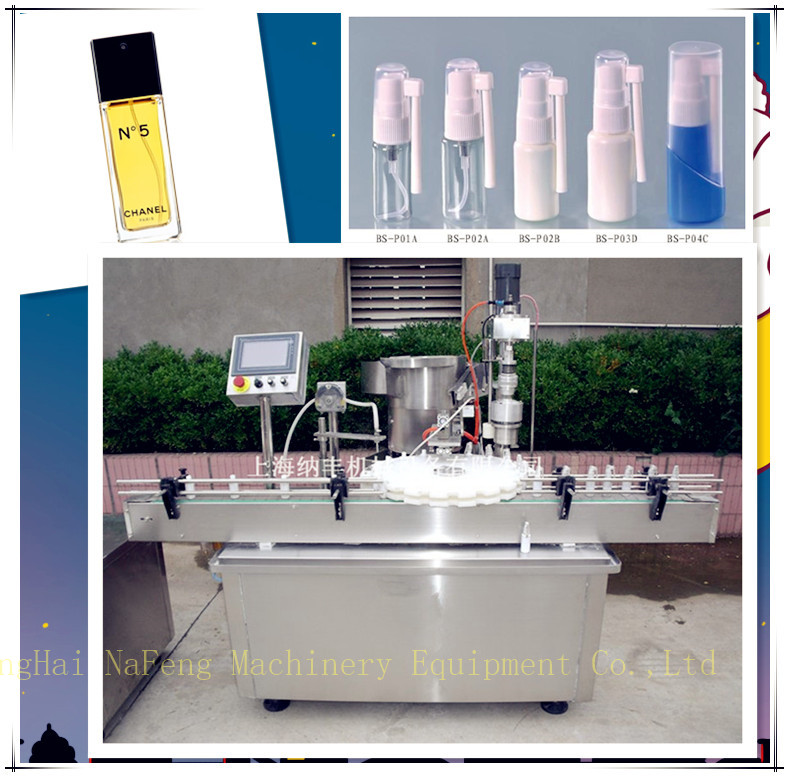 Automatic grade automatic perfume bottles and packaging type aerosol can filling machine