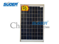 China Suoer Low Price 20w 18v Poly Mini PV Solar Panel