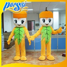 Lovely Pumpkin Mascot Costume with Leaf