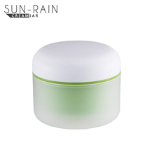 100ml round pp pink plastic jar/single wall PP cosmetic container /green color plastic makeup jar