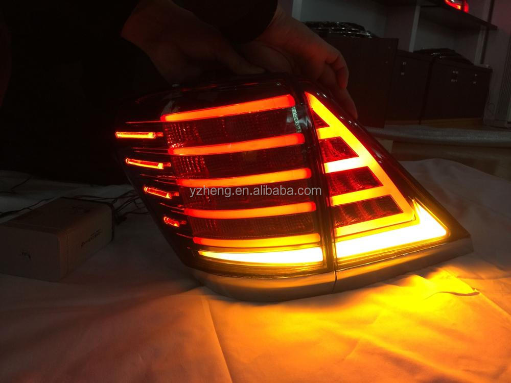 VLAND car lamp for VELLFIRE alphard 2008-2014 LED tail lamp with yellow flowing signal lights