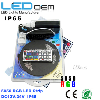 led light strip with remote and power supply