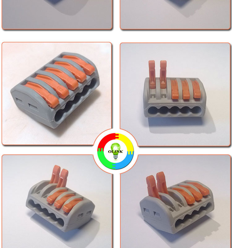 wire connector,electric wire connector,quick wire connector,Junction Box connector,Building wire connector,222-412,222-413,222-415,wago 222.