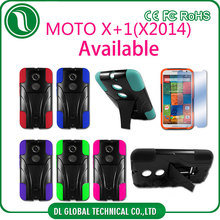 mobile accessories 3 in 1 PC+ Silicone Robot phone case for moto x+1 X2014 Kickstand phone case DLPC274