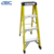 six -step agility pool safety fiberglass step ladder with platform & armrest
