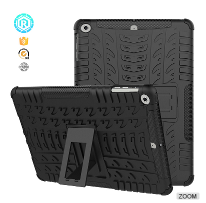 Top Quality Heavy duty case for apple ipad fancy back cover with kickstand