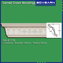 New material for interior decoration / PU foam cornice mouldings