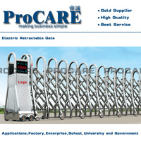 latest electric stainless steel retractable main gate designs for factory
