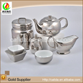 Chinese cheap ceramic teapot bulk pure silver tea pot porcelain tea pot