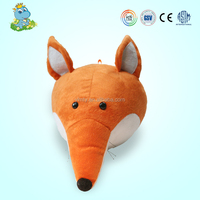 Plush toys big head stuffed fox toy animal head toy factory plush animal