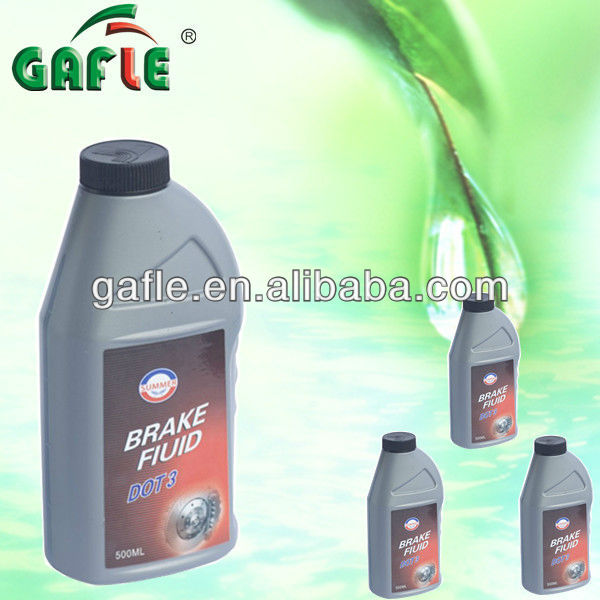500ml best quality SAE grade dot3 automotive brake fluid