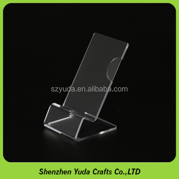 simple design mobile phone stand factory handmade clear plastic phone display for cell phone