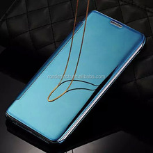 Top quality clear view mirror leather flip case cover for samsung e5/e7/a8/a7/a5/a3/note 5/s6 edge plus/s6 edge/s6