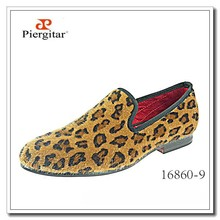 Men Dress Shoes Leopard Prints Horsehair Loafers