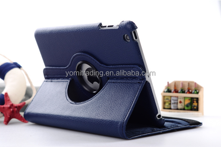 360 degree Rotation stand leather book case for Ipad 2/3/4