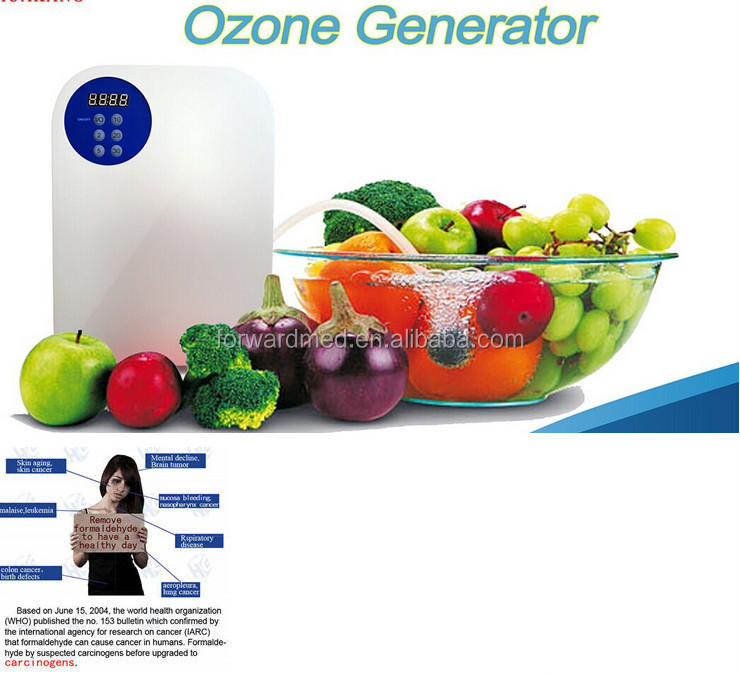 multifunctional ozone machine for food and fruit water and air purification